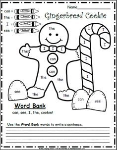 best free kindergarten worksheets images in   teacher pay  free december kindergarten worksheets for writing  color by sight words
