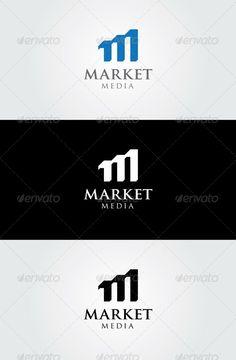 Market Media - Letter M Logo Template