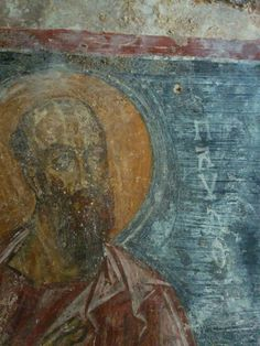 San Paolo nella chiesa rupestre di San Lorenzo a Lama d'Antico  *** Sant Paul in rupestrian church of Saint Lorenzo at Lama d'Antico