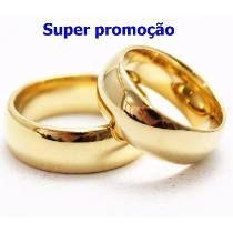 Par Alianças 8mm Casamento Noivado Cor Ouro Moedas Antigas