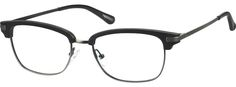 Order online, unisex black full rim mixed materials browline eyeglass frames model #7805521. Visit Zenni Optical today to browse our collection of glasses and sunglasses.
