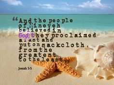 Jonah 3:5 Prophet Jonah