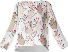 Hands of Humanity Silk Blouse by MyLittleBelleville on Etsy