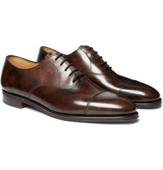 John Lobb - City II Leather Oxford Shoes (Brown) - €940