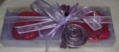 Purple Elegant Gift Set for Women with Pink Luxury Scented Soaps & a Handmade Silver-Purple Jewelry Necklace:Ideal for Feast,Birthday