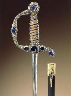 Ephesus ceremonial weapons studded with precious stones.  Germany, 18th century…