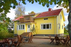 Lovely Yellow House in Finland