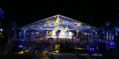Large wedding tent with transparent PVC fabric. For celebration party