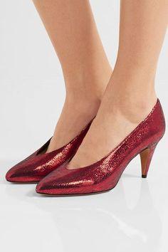 36ce1dcd39c1 Isabel Marant - Etoile Peas metallic textured-leather pumps