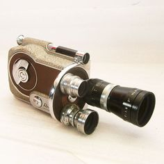 Vintage Movie Camera Revere 16 Outfit with 3 Lenses 25mm 15mm 75mm for 16mm Film