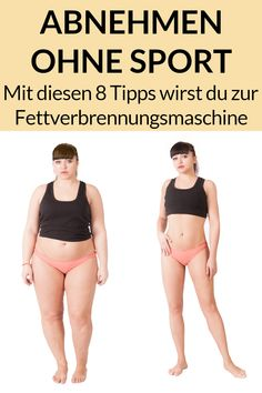 Lose weight without exercise - 8 tips and tricks-Abnehmen ohne Sport – 8 Tipps und Tricks Do you want to achieve quick results in losing weight without doing sports? Here we show you 8 tips and tricks for a great before and after transformation. Fitness Workouts, Workout Hiit, Fitness Motivation, Diy Y Manualidades, Ga In, Health And Fitness Tips, Healthier You, Fitness Transformation, Weight Loss Plans