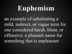 Image result for Euphemism