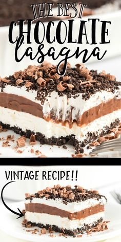 The chocolate Oreo cookie crust creates the perfect base for the sweet layers of delicious pudding, cream cheese, and Cool Whip that come next. Cool Whip Desserts, Mini Desserts, Oreo Desserts, Cream Cheese Desserts, Layered Desserts, Homemade Desserts, Easy Desserts, Delicious Desserts, Chocolate Cream Cheese Cake