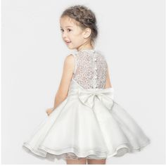 High quality Lace Girl Dresses Children Dress Party Summer Princess Baby Girl Wedding Dress Birthday Big Bow Pink For 100-160