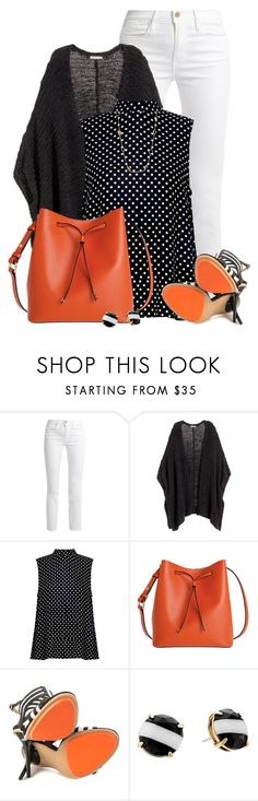 """""""Beauty with a Bucket Bag"""" by colierollers ❤ liked on Polyvore featuring Frame, H&M, Zimmermann, Lodis, GX, Kate Spade and Roberto Cavalli"""