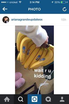 Bananas #ArianaGrandeVeganDiet