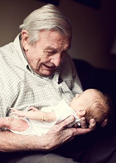something about the elderly and babies.. gets me every time.