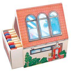 Streichholzschachtel Hausform individuell bedrucken