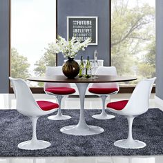 """Lippa Walnut Veneer 60"""" Oval-shaped Dining Table - Overstock™ Shopping - Great Deals on Modway Dining Tables"""