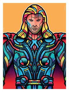 "Avengers Portraits: Thor || Thor Odinson || by Van Orton Design || 750px x 1000px || #fanart || $40, 18"" x 24"""