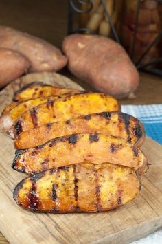 Grilled Sweet Potatoes with Cherry Glaze   Wishes and Dishes