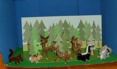 Once Upon a Family: Cool forest animal diorama