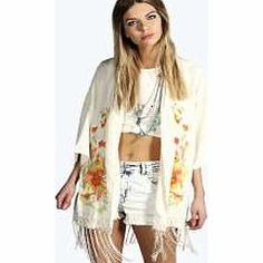 boohoo Embroided Tassle Kimono - cream azz20682 Boho dressing begins with a floaty kimono , the only way to wear this seasons love affair with all things folk. Earthy colour palettes and patchwork prints give this quirky coverup a homespun edge, wi http://www.comparestoreprices.co.uk/womens-clothes/boohoo-embroided-tassle-kimono--cream-azz20682.asp