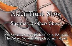 aldenshoeco Alden Trunk Show: Thursday, November 30th 10AM-6PM Sherman Brothers Shoes • • • #AldenArmy #AldenShoes #Alden #mensfashion #mensshoes #mensboots #MadeInUSA #Handmade #TrunkShow #AldenUSA #fallstyle #fallfashion #fashion #mensboots #Phillyfashion #philadelphia #ShermanBrothers 2017/11/29 07:11:01