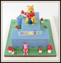 Winnie the Pooh number one birthday cake.