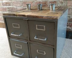 Industrial Chic Four Drawer Metal Filing Cabinet by JackGreens, £95.00