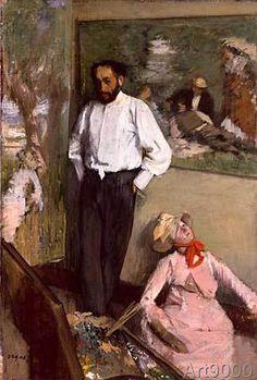 Edgar Degas - L'Homme et le pantin