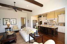 i love this open kitchen/living room layout.