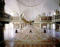 Mafra National Palace Library, Mafra, Portugal.