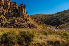 River scene - Karoo landscape between Beaufort West and Loxton, South Africa. Photo by Joggie van Staden, Beaufort West, West Coast, Monument Valley, South Africa, River, Landscape, Country, Holiday, Nature