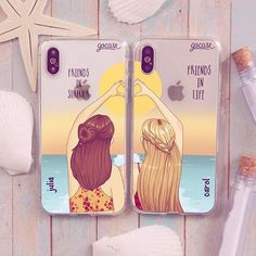 For girls bff cases, funny phone cases, girl phone cases, diy phone cas Bff Iphone Cases, Iphone Cover, Bff Cases, Girl Phone Cases, Funny Phone Cases, Cute Cases, Best Friend Cases, Friends Phone Case, Accessoires Iphone