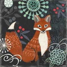 Chalkboard Fox by Jennifer Brinley | Ruth Levison Design