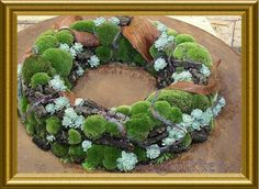 Mikke's Creatief Ateljeeke- gorgeous wreath out of moss