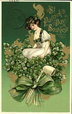 1910 St. Patrick's Day Postcard