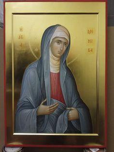 иконописец Александр Рудой St Monica, True Faith, Byzantine Icons, Orthodox Icons, Religious Art, Narnia, Catholic, Nostalgia, Saints
