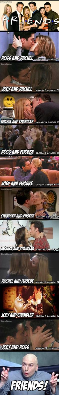 Only Monica & Rachel and Chandler and Ross (and no, Monica and Ross is not an alternative) is missing
