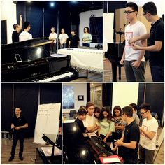 students of Sisf Sdudyong Vocal Music with singer Hoang Bach