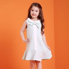 >> Click to Buy << 2017 Summer Baby Girls Evening Formal Dress Cute Bow Knot Design Mint Ruffle Dress Kids Fashion Clothes for Age2345678 Years Old #Affiliate