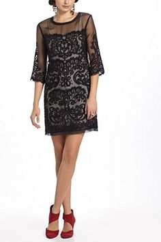 Paisley Scroll Dress by Anthropologie - perfect cocktail dress!