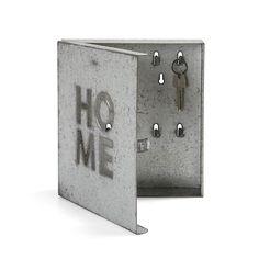 Clyde Boîte à clés en zinc gris