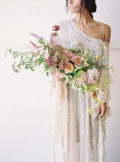 Beautiful pastel oversized bridal bouquet