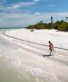 Sanibel Island, Florida - could be me. I loved to walk along the beach collecting shells Florida Vacation, Florida Beaches, Vacation Spots, Sanibel Florida, Local Beaches, Sarasota Florida, Osaka, Us Islands, Destin Beach