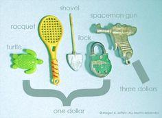 Flea Market Miniatures. From Megan Jeffery's blog, Beetlegrass.