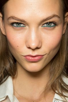 Karlie Kloss with colorful eyeliner