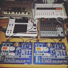 """""""Got my blue beauties hooked up. Going to try put something good together… Up And Running, Summer 2016, Have Fun, Music, Instagram Posts, Blue, Design, Musica, Musik"""