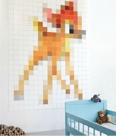 pixel art quilt - blog with more ideas